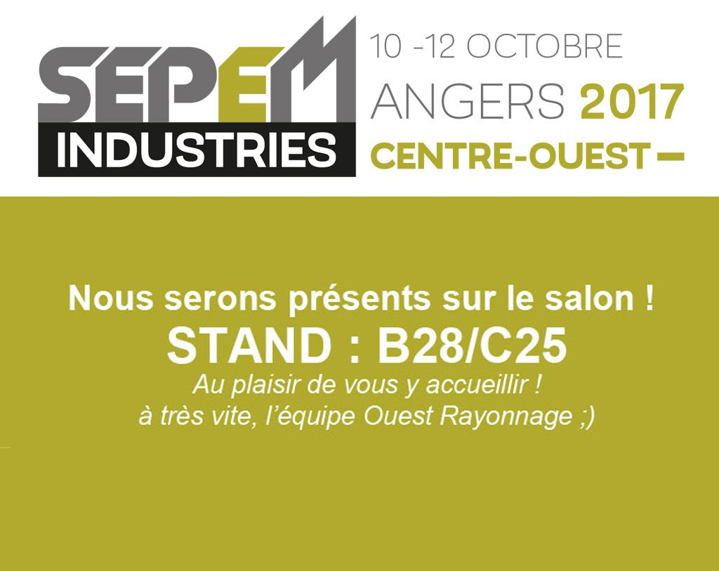Du 10 au 12 10 2017 retrouvez nous au salon sepem for Salon sepem